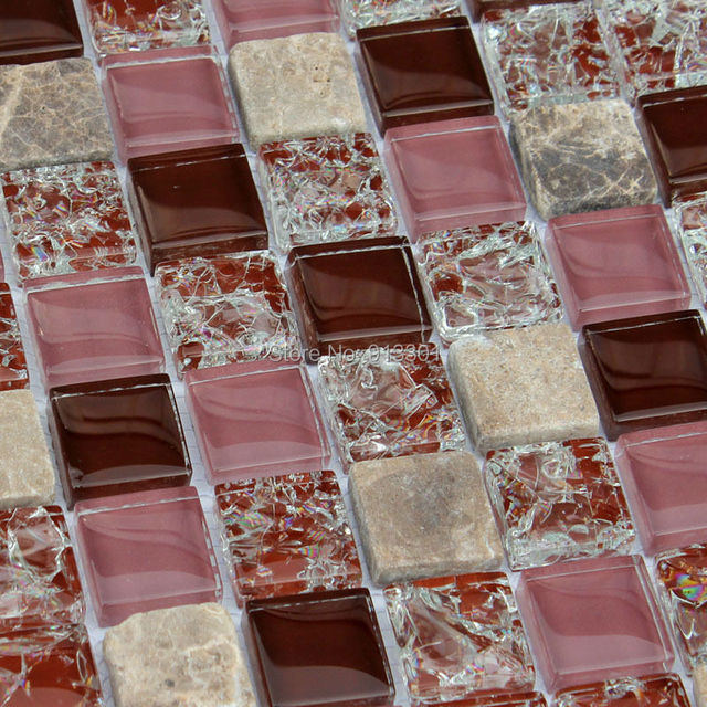 Cristallo piastrelle di vetro crackle glass mosaico stickers ...