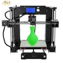 Anet A6 3D Printer High-precision Large Print Size LCD Display Aluminum Hotbed Desktop 3D Printing Machine Kit