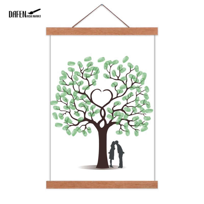 DIY Magnetic Wooden Hanger Photo Frame Wood Wall Hanging Painting frame Home Room Decor wooden poster hanger