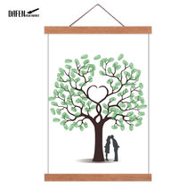 2019 DIY Magnetic Wooden Hanger Photo Frame Poster and Prints Wood Wall Hanging Painting Home Room Decor livre d'or de mariage(Hong Kong,China)