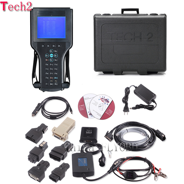 Special Offers Top Quality tech2 diagnostic tool with 32mb tech 2 software Memory card for 6 brand vehicles opel tech2 scanner with plastic box