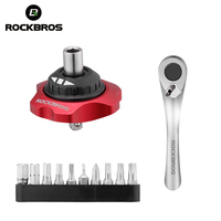 ROCKBROS 12 In 1 Ratchet Wrench Bicycle Repair Tools Multifunction Tools MTB Road Carbon Bike Torque