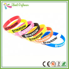 Wholesale bracelets silicone material various colors custom silicone wristband(China)