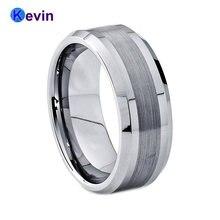 8 мм для мужчин и женщин свадебные кольца из вольфрама кольцо
