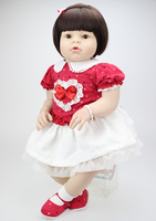 60 см Мягкая силиконовая виниловая Кукла реборн игрушки bebe Reborn принцесса малыш девочка живая кукла Bonecas подарок на день рождения игровой дом