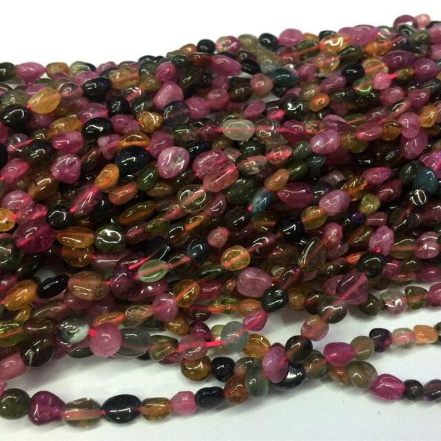 Mélange naturel rose vert Orange multi-couleur Tourmaline pépite forme libre filet perles de galets irrégulières idéal pour bijoux 15
