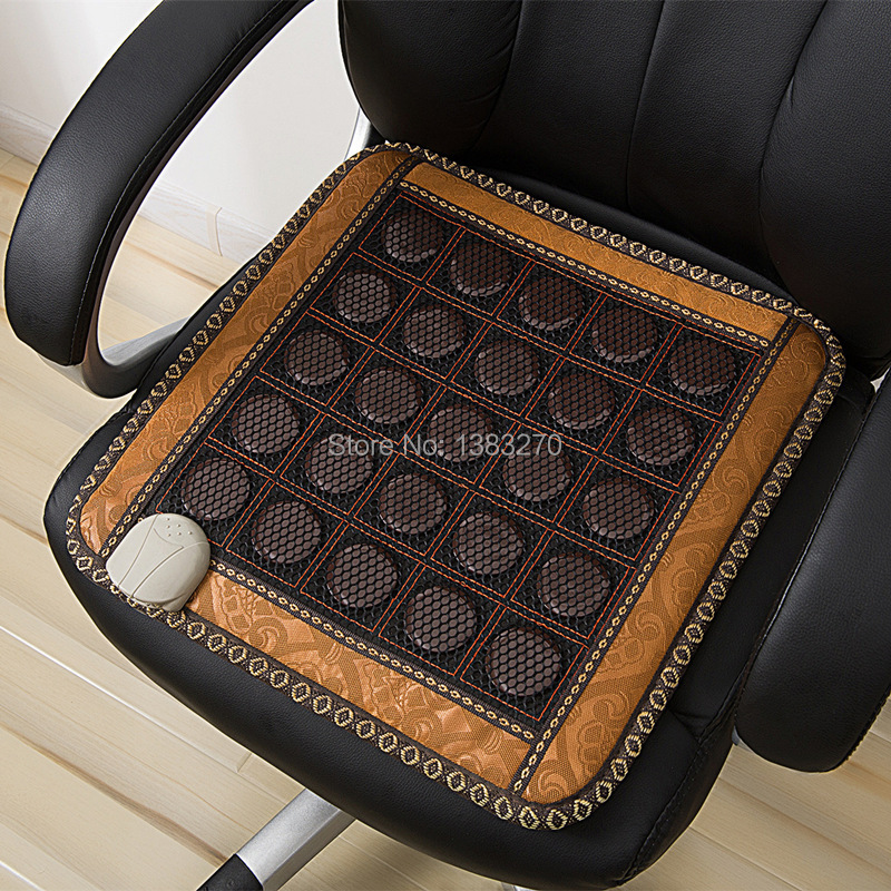 Beauty & Health Nice Beauty Healthy Natural Jade Stone Heating Cushion Home And Office Chair Used Electric Chair Cushion Massage & Relaxation