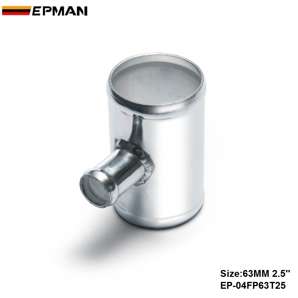 """2.5/"""" 63 mm Blow Off Valve Adapter Aluminum T-Pipe Shape Tube for 25mm ID BOV 3"""