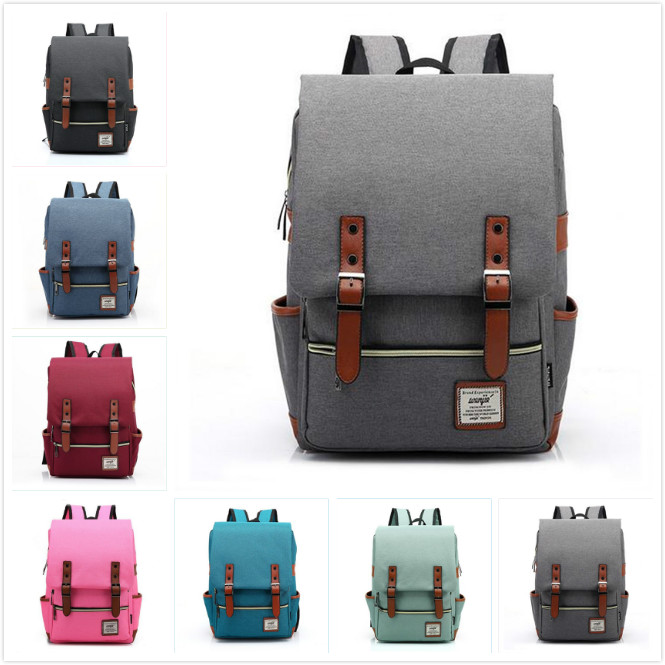 Fashion Canvas Daily Backpacks for Laptop Large Capacity Computer Bag Casual Student School Bag packs Travel Rucksacks multi function casual wear resisting nylon 35l computer bag large capacity travel bag school backpacks t0211