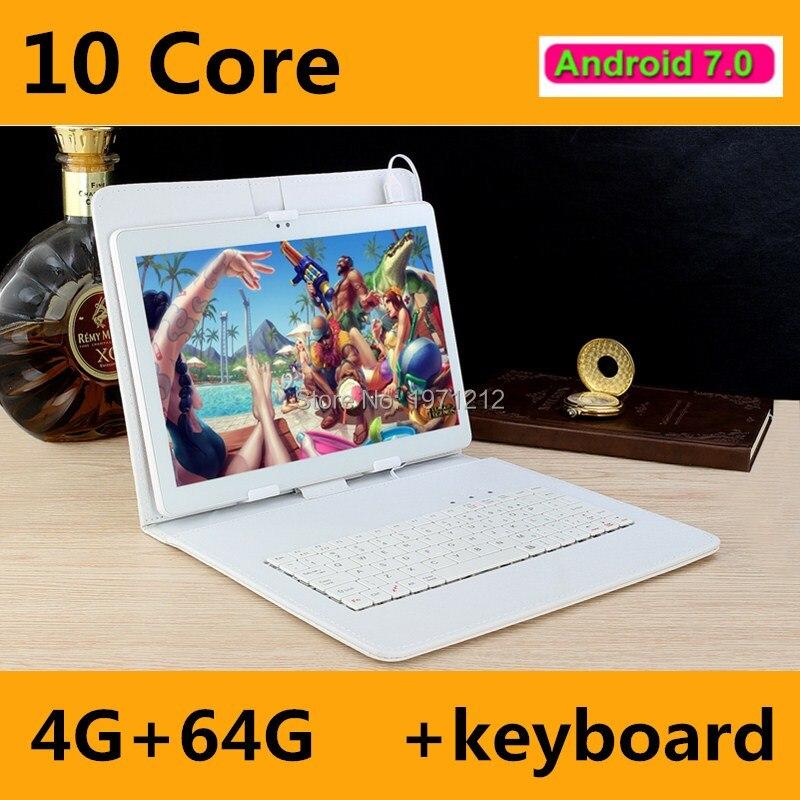 BOBARRY 10 pouce 4G LTE Comprimés Deca Core Android 7.0 RAM 4 GB ROM 64 GB Dual SIM Cartes 1920*1200 IPS HD 10.1 pouce Tablet PCs + Gifs