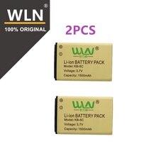 2 шт. 100% Оригинал Литий-ионная аккумуляторная батарея для WLN KD-C1 двухстороннее радио KD-C2 1500 мАч KB-5C Kaili Walkie Talkie Батарея