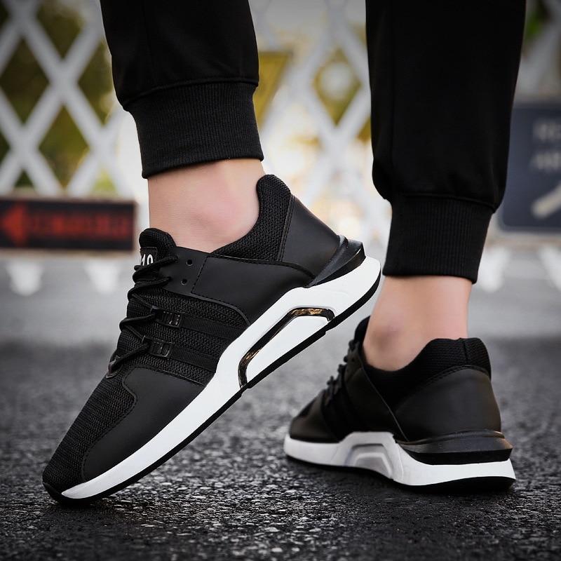 Noir 39 44 Plus Marche Lumière Hommes Taille Chaussures Respirant blanc Marque Casual Noir 2018 Sneakers Maille De rouge AUZqyOx