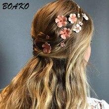 Daisy Flower Hair Clip for Women Elegant Korean Design Metal Bobby Pin Barrette Stick Hairpin Styling Wedding Accessories