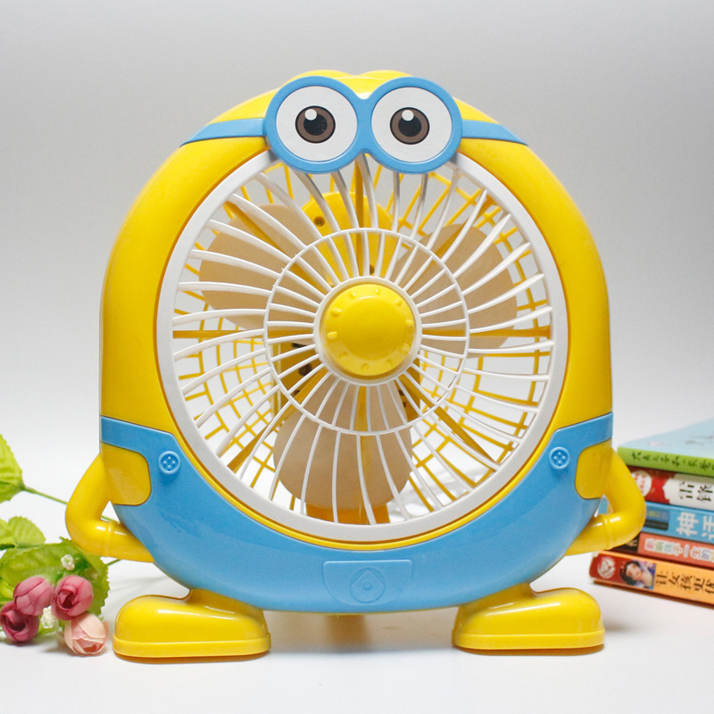 Cartoon Mini 220V Electric Fan Student Office Desktop Fan Two-speed Wind Regulation