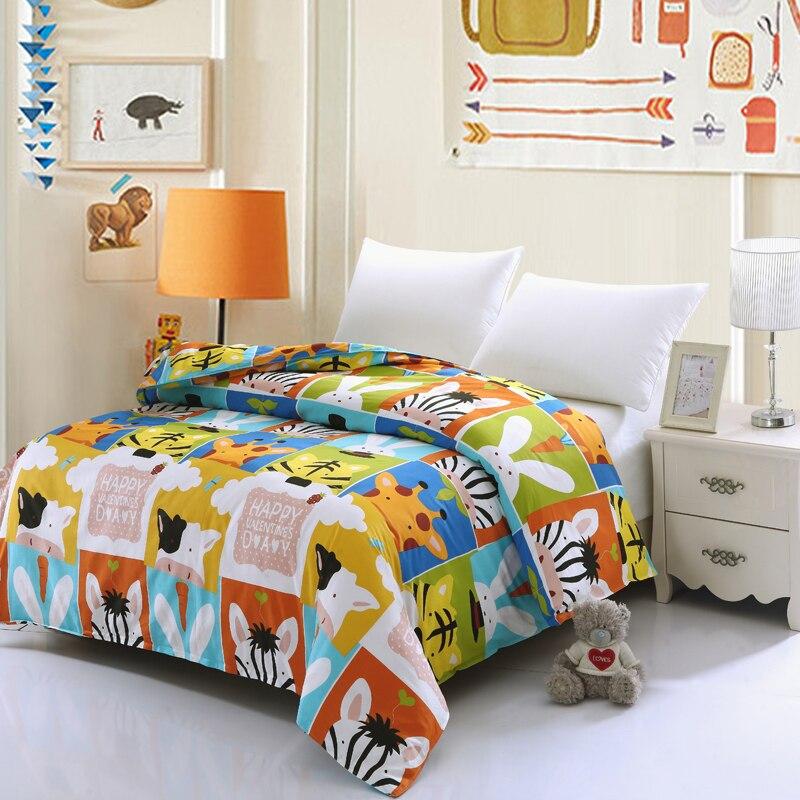 100%Cotton Leopard cartoon hello kitty Duvet Cover Single Twin Double Quilt Case Queen King Size Modern Boy Kids Comforter Cover