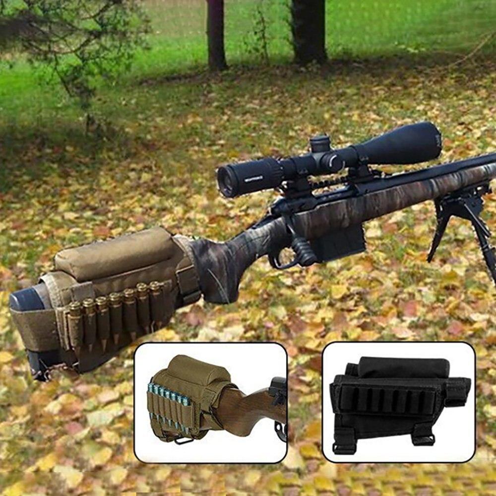 Portable bout à bout réglable tactique Buttstock fusil joue reste support Pack support transporteur reste pochette étui