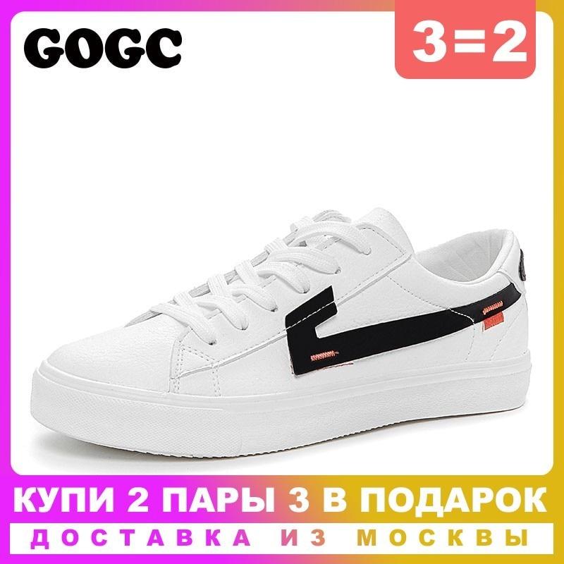 a0ec90ee0 GOGC 2019 Mulheres Vulcanize Sapatos Mulher Sapatos Casuais Sapatos Brancos  Mulher Sapatilhas Sapatilhas tenis feminino sapatos de lona Das Mulheres 782