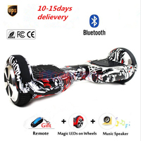 hoverboard bluetooth Self balancing Scooter balance wheel on led light unicycle oxboard overboard standing drift hover board