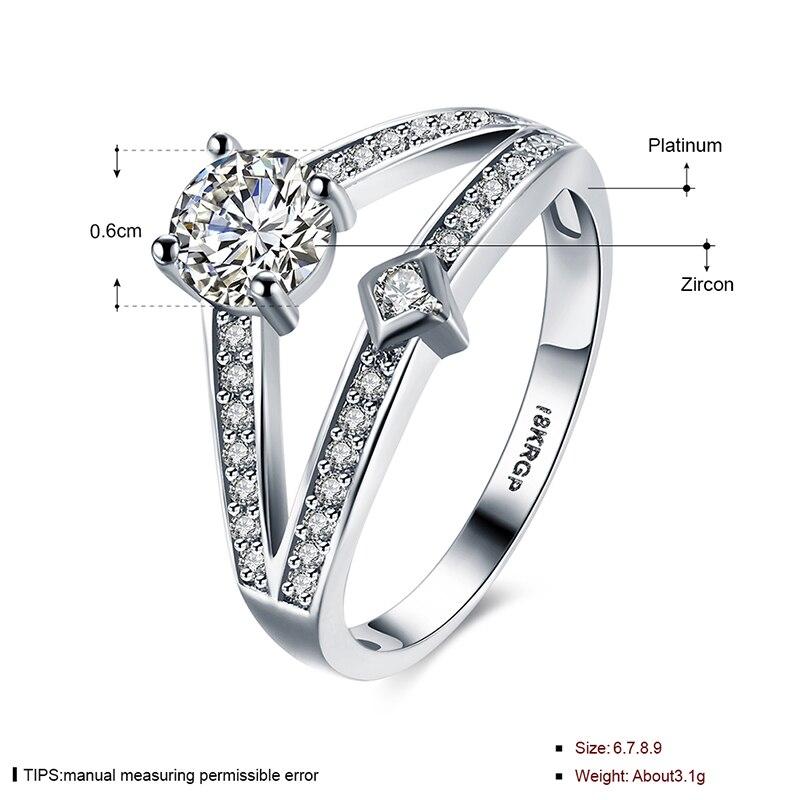 Pure Snow Unique Design Romantic Wedding Engagement Rings Symbol Of