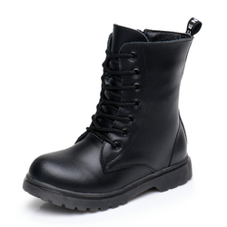 Children Boots 2019 Winter Shoes Genuine Leather Boys & Girls Boots Zipper Kids Shoes Fashion Toddler Kids Boots