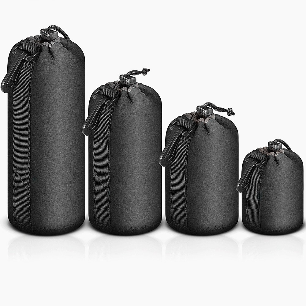 4PCS S/M/L/XL Camera Bag Lens Case Waterproof Bag Neoprene Soft Protector for Canon Nikon Sony Sigma Tamron Lens Accessories