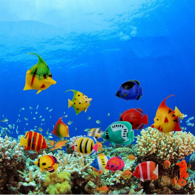 Tropical fish underwater images for Decoration maison aquarium