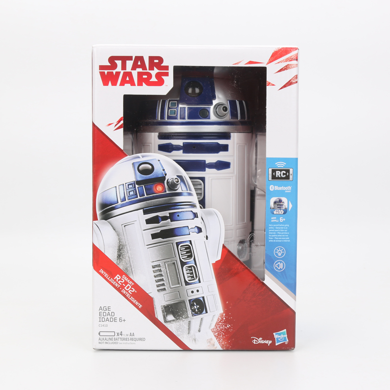 US $219 71 24% OFF|2018 Star Wars toy E8 Series Deluxe Smart Robot R2 D2  Interlighent Inteligente Model Electronic Toy RC Remote Control Toy-in  Action