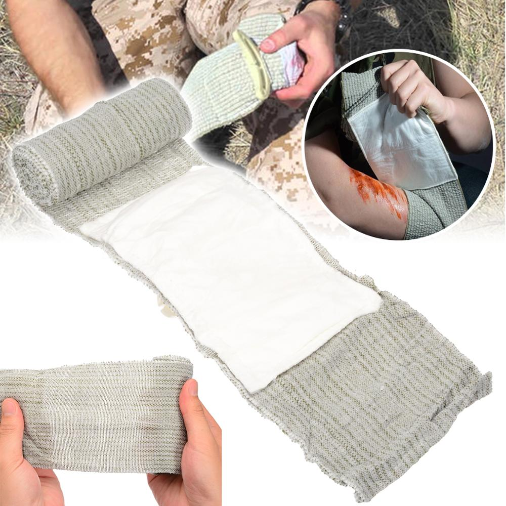 New 10*200cm Israeli Trauma Bandage Dressing First Aid Compression Bandage Sterilization Outdoor Hiking Survival Supplies