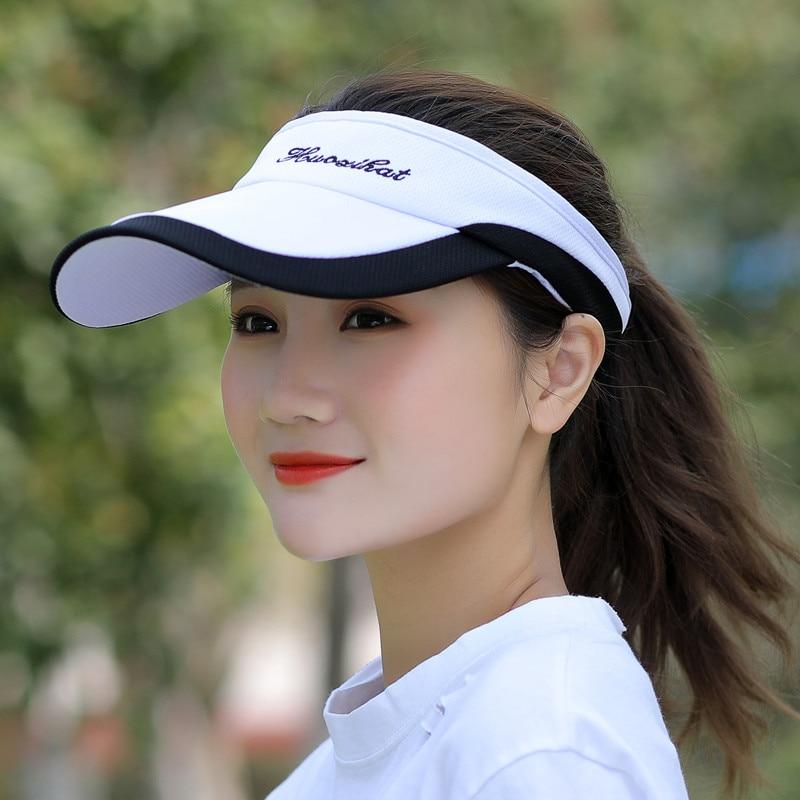 Kagenmo летняя Мужская Женская теннисная кепка без короны солнцезащитная Кепка бейсболка с козырьком - Цвет: F
