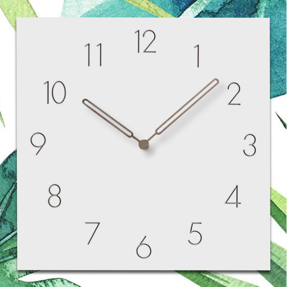 1 Pcs 12 Inch Quartz Wall Clocks Home Decor Modern Pierced Silent Simple Living Room Bedroom Hanging Wall Clock White