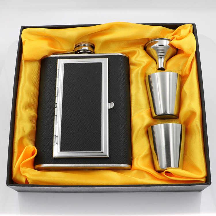 Multifunzionale Portatile In Acciaio Inox Fiasco di Sigaretta Scatola di 5 once di Vino Whisky Tazza di Caffè Commercio Esterno migliore regalo