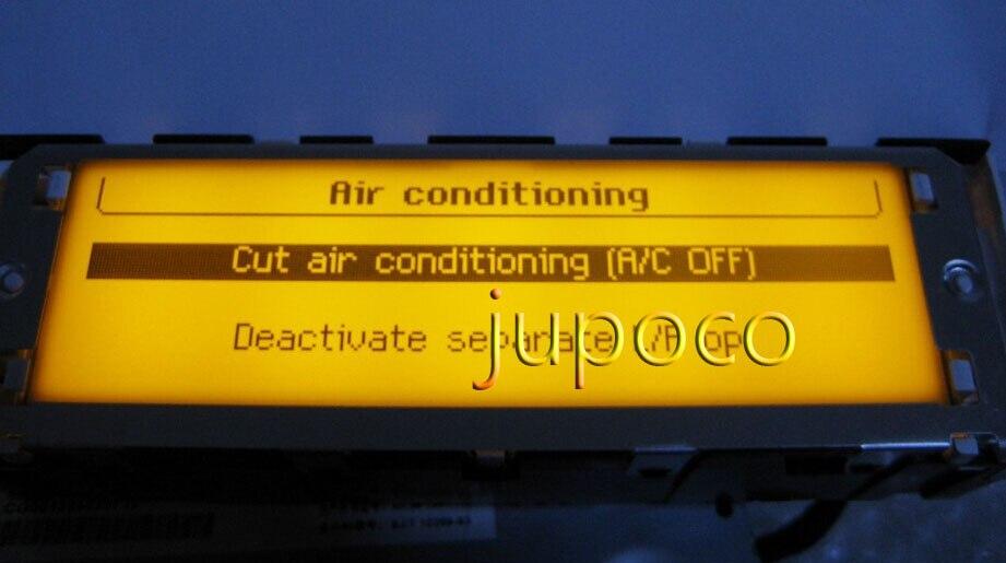Écran multifonction d'origine 12 broches Support climatisation USB & Bluetooth écran jaune pour Peugeot 307 407 408 c5