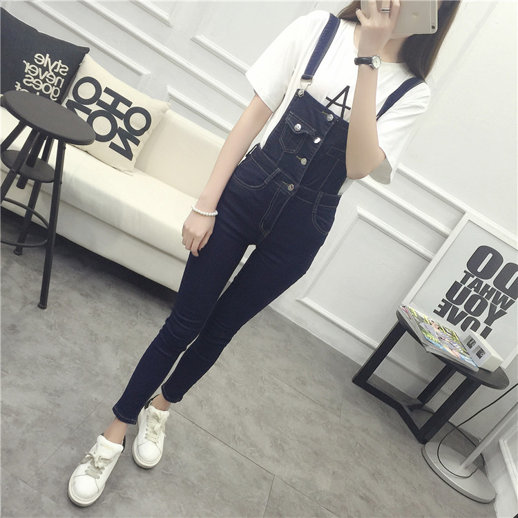 Cynthia Store 2017 autumn rompers womens jumpsuit long denim overalls jumpsuit jeans playsuit casual women loose jumpsuit