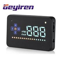 Universal Tela de 3.5 polegada Auto Veículos GPS HUD Cabeça Up Display Velocímetros Excesso de Velocidade Aviso Painel Do Carro Windshiled Projetor