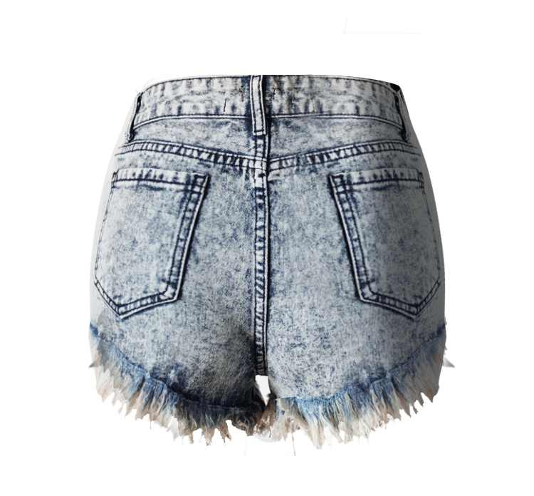 Frete grátis 2017 new best seller Marca de Moda de Nova cinza das Mulheres de Cintura Alta Shorts Jeans Para A Mulher