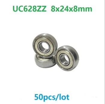 50pcs/lot UC628ZZ 8x24x8 mm Car sliding door pulley spherical bearings arc track pulley bearing 8*24*8mm