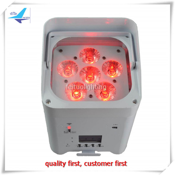 2pcs/lot New 6x12W App Control Wifi Battery Led Par Stage Disco Lights Wireless Dmx Led  ...