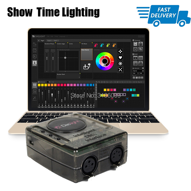 Powerful Mini Dmx Controller Daslight Dvc4 Dmx Software Stage Light Controller Dj Stage Light Usb Lighting Interface