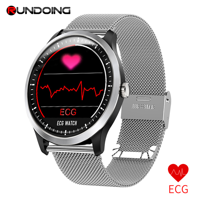 "RUNDOING N58 אק""ג PPG smart watch עם ק. אק""ג תצוגה, הולטר אק""ג קצב לב צג לחץ דם smartwatch"
