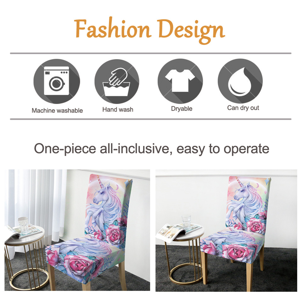 Cool Us 4 9 30 Off Beddingoutlet Unicorn Chair Covers Rose Cartoon Spandex Elastic Slipcover Pink Floral Seat Case Decor For Weddings Banquet 1Pc In Caraccident5 Cool Chair Designs And Ideas Caraccident5Info