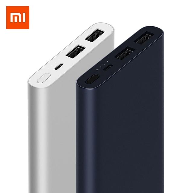 Original 10000 mAh Xiaomi banco de energía de carga rápida banco de energía Dual-USB portátil Alu mi nium rápido de carga de mi batería Externa de energía