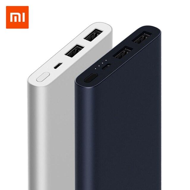 Orijinal 10000 mAh xiaomi güç kaynağı 2 Hızlı Şarj Powerbank Çift USB Taşınabilir Alu mi nium hızlı Şarj mi güç harici Pil