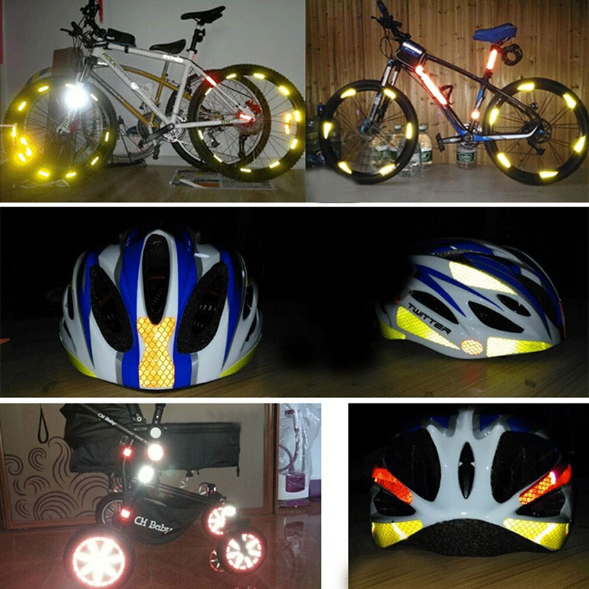 Reflector  Decal Safety Tape Reflective Strip Vinyl  Bicycle Sticker