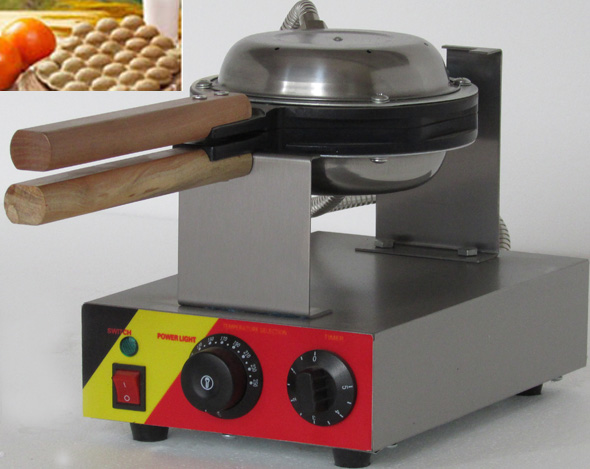 Free shipping 110V 220V Hongkong Stainless Steel Electric Egg cake oven;QQ Egg Waffle Maker; egg waffle machine