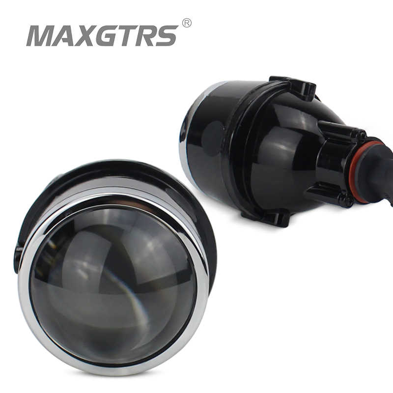 2x Universal Car Accessories Wholesale 12V 35W HID Fog Light Projector Lens High Clear 2.5 3.0 Inch H11 Bulbs Foglamp Dedicated
