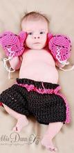 Rose red 3pcs Gloves boxing boy High quality Clothes baby set Winter Warm Toddlers handmade newborn