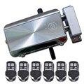 Seguridad Electrónica inteligente invisible antirrobo Kit de cerradura de puerta Control remoto inalámbrico inteligente y candado automático