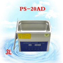 4PC 110V/220V PS-20AD 3L Ultrasonic cleaning machines circuit board parts laboratory cleaner/electronic products etc