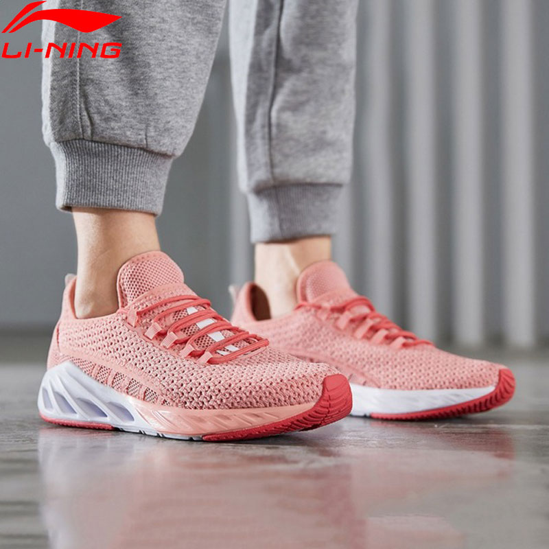 Li Ning Women LN ARC 2019 Cushion Running Shoes Breathable Light Weight LiNing Wearable Sport Shoes