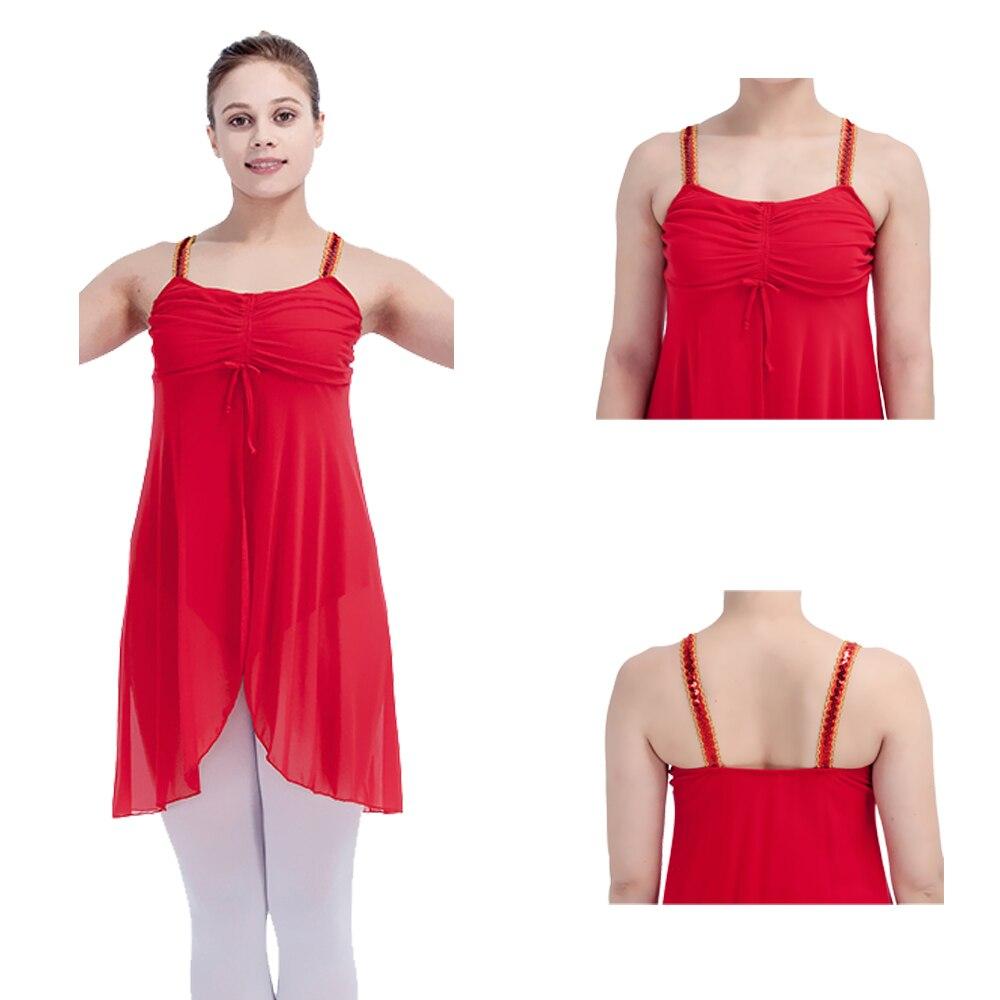 ⑧Bailarín de opciones rojo algodón/lycra con malla faldas leotardo ...